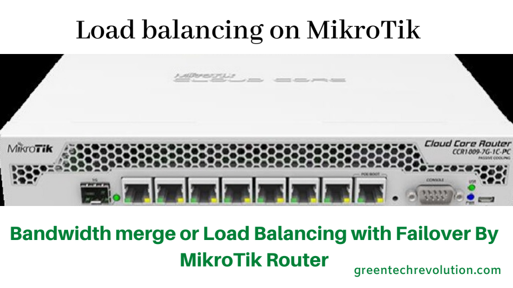 Load balancing on MikroTik
